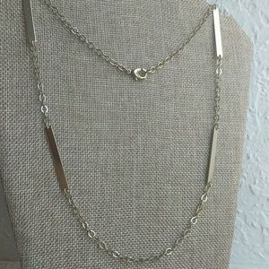 Jewelry - Very long gold tone bars and chain necklace